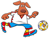 dog football player cartoon character