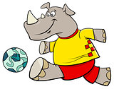 rhino football player cartoon character