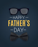 Happy Fathers Day Background. Best Dad Vector Illustration