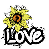 love with flowers words