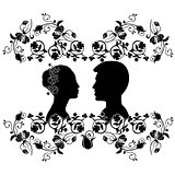 wedding silhouette with flourishes 6