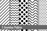 5 seamless pattern set fashion abstract paper art trending artwork
