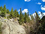 The Sundance Canyon Waterfall in Banff National Park Alberta, Canada