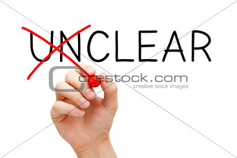 Clear Not Unclear Concept