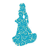 Snow Maiden pattern silhouette new year