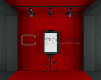 Red and black minimalist art gallery