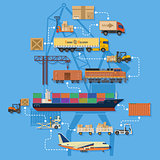 Freight Transport and Logistics Infographics