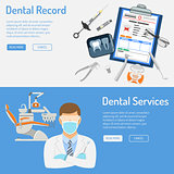 Dental Services Horizontal Banners