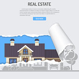 Sale Purchase Lease Rent Real Estate Concept