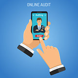 Online Auditing, Tax, Accounting Concept