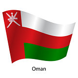Flag of the country Oman on white background. Exact colors