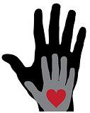 Vector Hands Heart