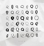 Set symbol q for letters