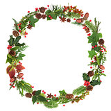 Winter and Christmas Wreath Garland