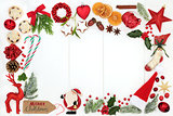 Christmas Background Border Composition