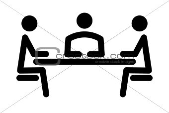 simple icon of the meeting
