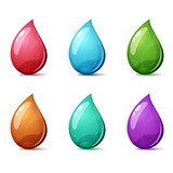 Set cartoon icon - blue, pink, green, yellow.
