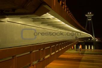 Bratislava in the night - Bridge od SNP