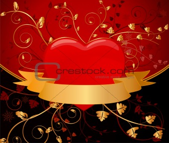 Floral  artistic vector  background illustration
