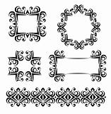 black vector frames decoration