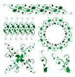 abstract floral vector decoration ornament