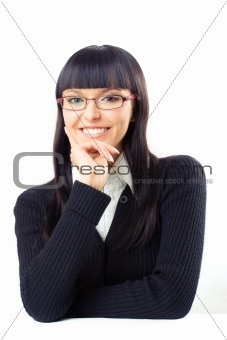 cheerful businesswoman