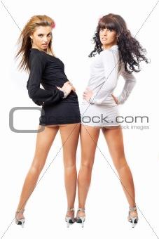 two beauties posing