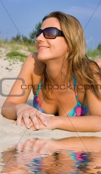 beach girl on sand
