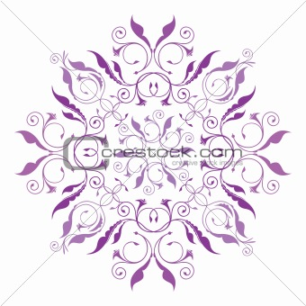 classical floral pattern