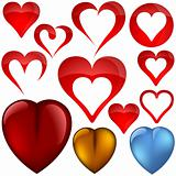 Heart icons II - set