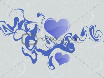 Abstract Blue Hearts