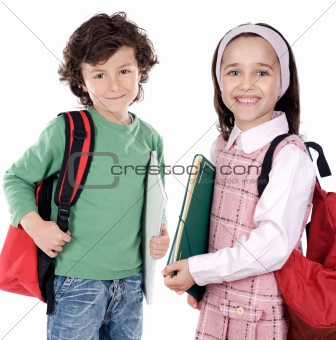 Two childrens students