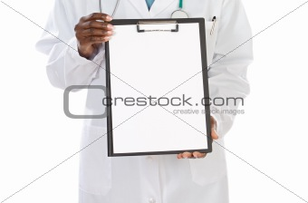 anonymous doctor whit clipboard