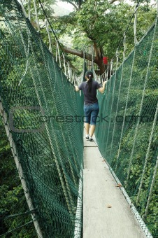Girl On Canopy Walk