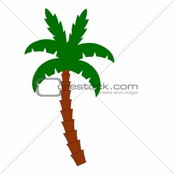 single palm tree vector