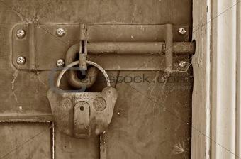 old locked door