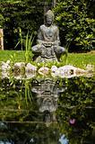 budha statue in garden