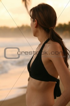 After workout on the beach