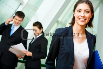 Cheerful employee