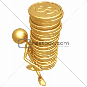 Gold Dollar Coins Tower
