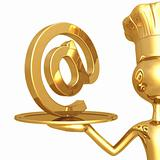 Golden Chef Serving Email