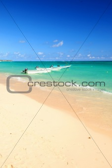 Fishing boats in Caribbean sea