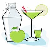 Retro-style Apple Martini