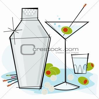 Retro-style Martini