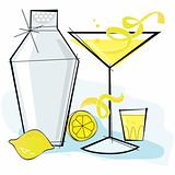 Retro-style Lemondrop Martini