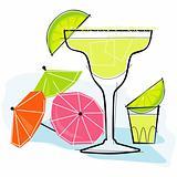 Retro-style Margarita
