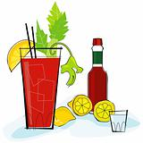 Retro-style Bloody Mary