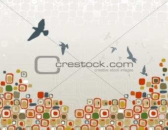 Flock of Birds Silhouette