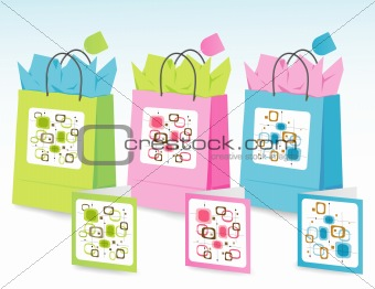 Spring Colors Gift Bags