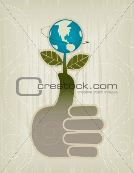 Green Thumbs Up